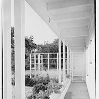 Alvin Devereux, residence at R.F.D. no. 2, West Hills, Huntington, Long Island. Detail, through porch pillars