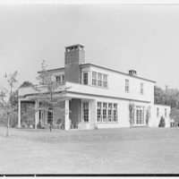Alvin Devereux, residence at R.F.D. no. 2, West Hills, Huntington, Long Island. East facade, from left