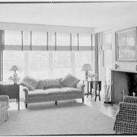 Alvin Devereux, residence at R.F.D. no. 2, West Hills, Huntington, Long Island. Living room, to window