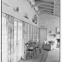 Arthur W. Rossiter, Jr., residence on St. Marks Lane, Islip, Long Island. Living room, side wall