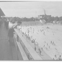 Betsy Head Play Center, Hopkinson and Livonia Ave., Brooklyn, New York. Upper deck, from north, to diving pool II
