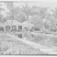 Byron D. Miller, residence at 203 Lake Trail South, Palm Beach, Florida. Across pool to pavilion, a.m.