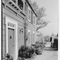 C. Maury Jones, residence in Peapack, New Jersey. Entrance detail, sharp