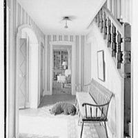 C. Maury Jones, residence in Peapack, New Jersey. Entrance hall