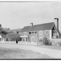 C. Maury Jones, residence in Peapack, New Jersey. General entrance facade, 1 p.m.