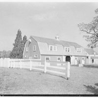 C. Maury Jones, residence in Peapack, New Jersey. Stable group