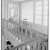 C. Maury Jones, residence in Peapack, New Jersey. Staircase from 2nd floor