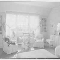 Charles H. Upson, residence in Middlebury, Connecticut. Daughter's white bedroom
