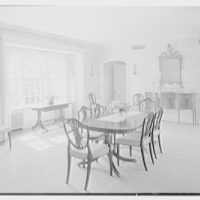 Charles H. Upson, residence in Middlebury, Connecticut. Dining room, to sideboard