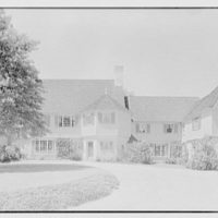 Charles H. Upson, residence in Middlebury, Connecticut. Entrance facade I