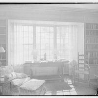 Charles H. Upson, residence in Middlebury, Connecticut. Library, to window