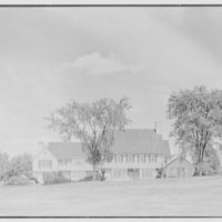 Charles H. Upson, residence in Middlebury, Connecticut. West facade, from distance