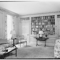 Charles S. Robertson, residence in Lloyd Harbor, Long Island. Library, to books