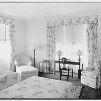 Charles S. Robertson, residence in Lloyd Harbor, Long Island. Main floor guest room