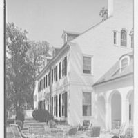 Charles S. Robertson, residence in Lloyd Harbor, Long Island. Rear facade from right