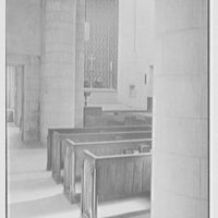 Church of the Epiphany, E. 74th St. and York Ave., New York City. Sunlight effect on side aisle