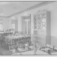 Connecticut College, New London, Connecticut. Jane Addams, 1936, dining room detail