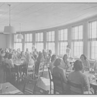 Connecticut College, New London, Connecticut. Jane Addams, 1936, dining room with figures
