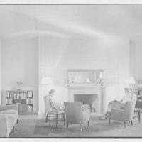 Connecticut College, New London, Connecticut. Jane Addams, 1937, living room