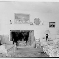 Duncan Bulkley, residence on Dongle Ridge Rd., North Salem, New York. Library, to fireplace