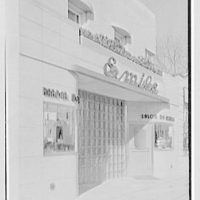 Emile's Beauty Shop, 82 N. Village Ave., Rockville Centre, Long Island. Exterior, beauty shop from left
