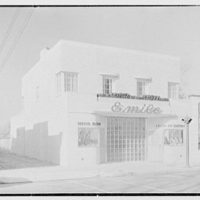 Emile's Beauty Shop, 82 N. Village Ave., Rockville Centre, Long Island. Exterior, beauty shop and A & P IV