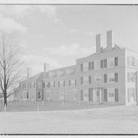 Emily Abbey Hall, Mount Holyoke College, South Hadley, Massachusetts. Entrance facade