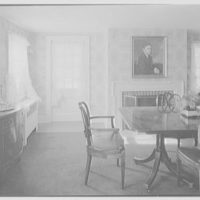 Frederick Pryor, residence on Old Mill Rd., Greenwich, Connecticut. Dining room