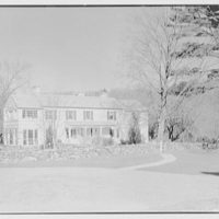 Frederick Pryor, residence on Old Mill Rd., Greenwich, Connecticut. General exterior, naked trees