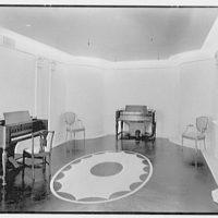 Hammond Organ Company, business at 50 W. 57th St., New York City. Adam room