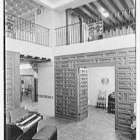 Hammond Organ Company, business at 50 W. 57th St., New York City. Main showroom, rear, vertical