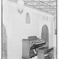 Hammond Organ Company, business at 50 W. 57th St., New York City. Moorish room, detail