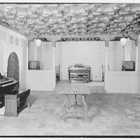 Hammond Organ Company, business at 50 W. 57th St., New York City. Moorish room, reversed light