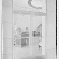 Hammond Organ Company, business at 50 W. 57th St., New York City. West entrance detail