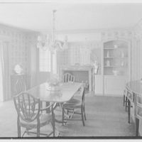 Harold F. Reindahl, residence on Forest Rd., Essex Fells, New Jersey. Dining room
