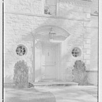 Harold F. Reindahl, residence on Forest Rd., Essex Fells, New Jersey. Entrance detail
