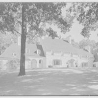Harold F. Reindahl, residence on Forest Rd., Essex Fells, New Jersey. Entrance facade, general from left
