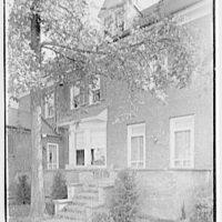Harold I. Rakow, M.D., residence and office at 117 Albany Ave., Kingston, New York. House, rear terrace