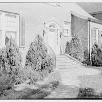 Harold I. Rakow, M.D., residence and office at 117 Albany Ave., Kingston, New York. House entrance, detail II