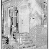 Harold I. Rakow, M.D., residence and office on 117 Albany Ave., Kingston, New York. Office entrance, 10 a.m.