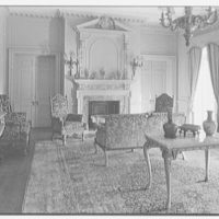 Harris Fahnestock, residence in Lenox, Massachusetts. Drawing room, to fireplace