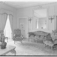Harris Fahnestock, residence in Lenox, Massachusetts. Drawing room, to mirror