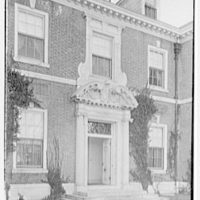 Harris Fahnestock, residence in Lenox, Massachusetts. Entrance detail