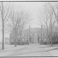 Harris Fahnestock, residence in Lenox, Massachusetts. General view from road