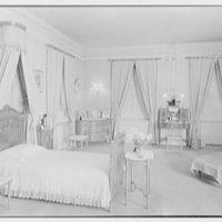 Harris Fahnestock, residence in Lenox, Massachusetts. Mr. Fahnestock's bedroom, to bed, night view