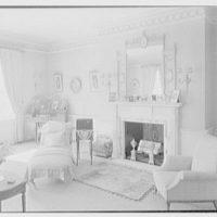 Harris Fahnestock, residence in Lenox, Massachusetts. Mr. Fahnestock's bedroom, to fireplace
