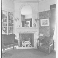 Harris Fahnestock, residence in Lenox, Massachusetts. Mr. Fahnestock's den, to fireplace