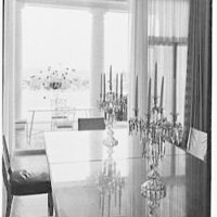 Henry R. Luce, residence on Upper King St., Greenwich, Connecticut. Dining room, window detail