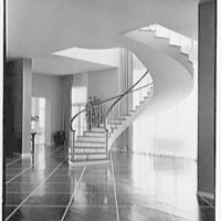 Henry R. Luce, residence on Upper King St., Greenwich, Connecticut. Staircase II