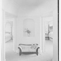 Henry W. Bagley, Bellehaven, residence in Greenwich, Connecticut. Children's suite, entrance hall, vertical